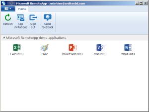 desktop - remote app